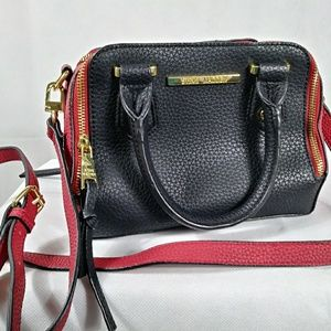 STEVE MADDEN Red and Black Leather Purse
